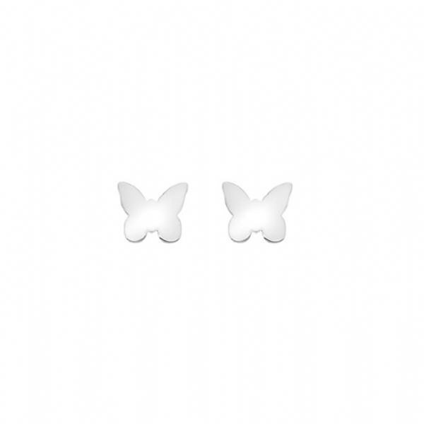 Childs Silver Butterfly Studs